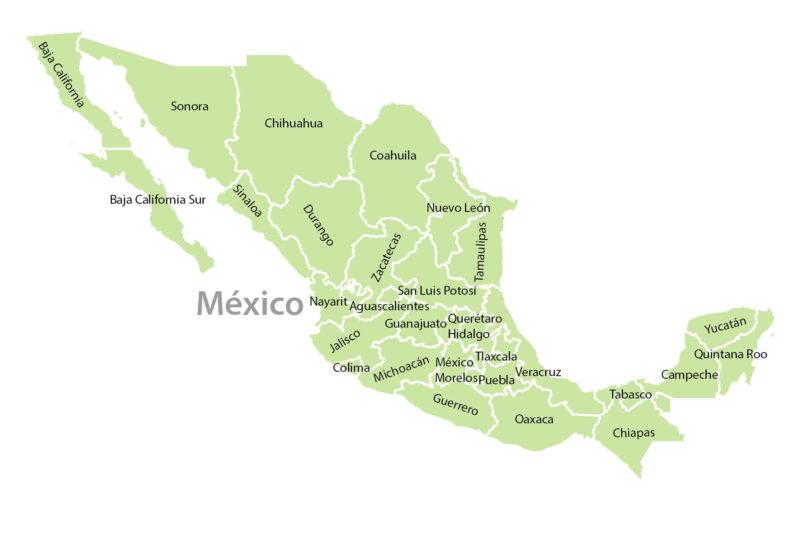 Cenoten in Mexiko - Regionen