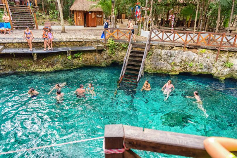 Cenote Zacil Ha an der Riviera Maya bei Tulum