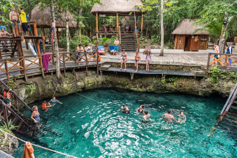 Familienfreundlicher Cenote Zacil-Ha bei Tulum bei Tulum